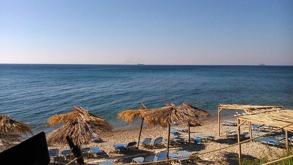 Chios, Greece, Beach, Summer, Sea, Biri Beach