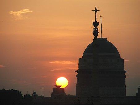 President House, Rashtrapathi, Bhavan, Sunset, Sky