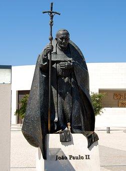 Pope, Statue, Giovanni Paolo According, Bronze, Fatima