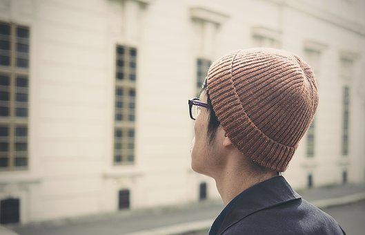 Beanie, Blur, Blurry, Bonnet, Boy, Building, Close-up