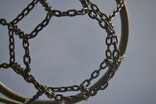 Basketball Hoop, Basketball, Sport, Chain, Play
