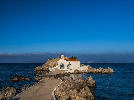 Chios, Church, Blue