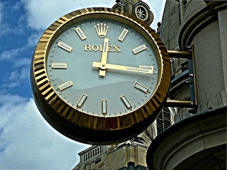 Clock, Rolex, City, Dresden, Saxony
