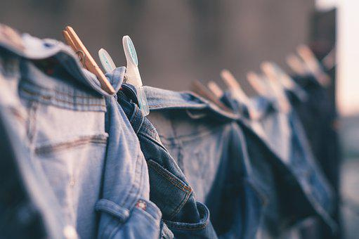Blur, City, Clothes Line, Clothes Pin, Denim