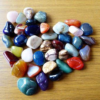 Heart, Stones, Colorful, Colorful Stone, Gems, Agate