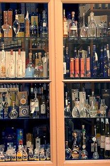 Bottles, Brandy, Alcohol, Spirits, Consumption, Glass