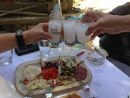 Drinks With Friends, Greece, Chios, Ouzo, Appetizer