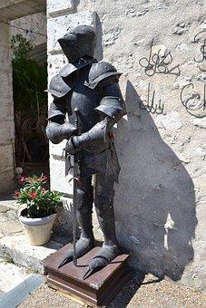 Knight, Knight Armor, Guard, Blois, Sword, Helmet