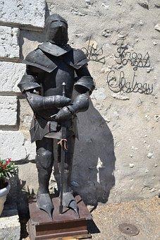 Knight, Knight Armor, Sword, Helmet, Plastron