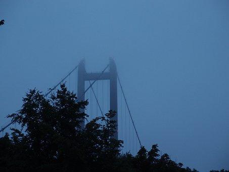 Humber Bridge, Bridge, Fog, Suspension, Humber