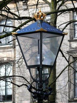 Lantern, Crown, Gold, Long Voorhout, The Hague