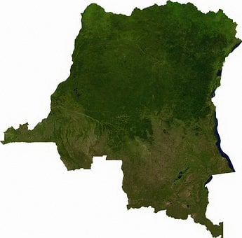 Of The Congo, Aerial View, Land, Map, Atlas