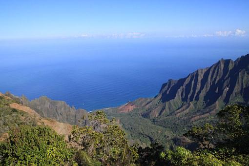 Hawaii, Kauai, Kalalau, Lookout, Mountains