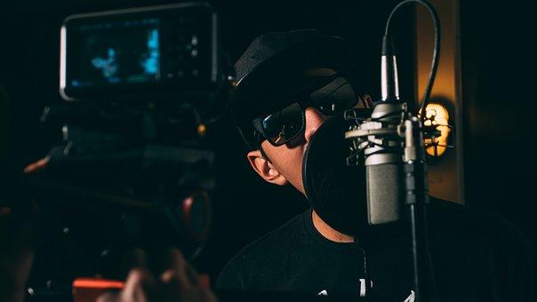 Man, Microphone, Music, Musician, Recording, Singer