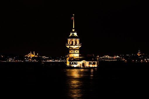 Istanbul, Night, Throat, Beautiful, Ship, üsküdar