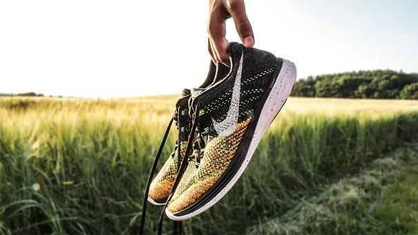 Countryside, Field, Footwear, Grass, Nike, Outdoors