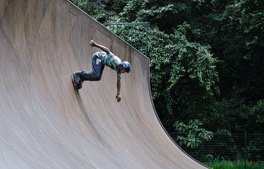 Balance, Man, Outdoors, Park, Person, Ramp