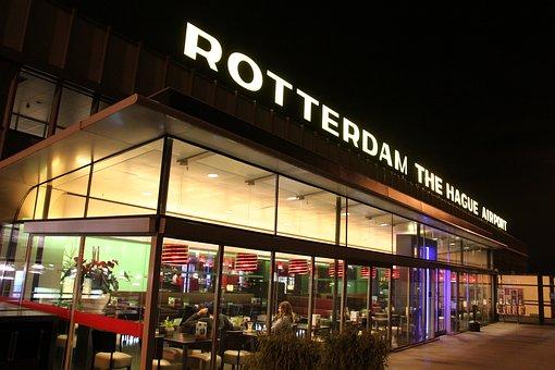 Rotterdam, The Hague Airport, Restaurant, Café, Patrons
