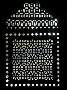 Light, Shadow, Window, Mausoleum, India, Delhi