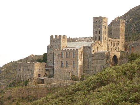 Monastery, Ruin, Old, Castle, Sant Pere De Rodes, Spain