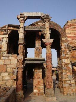 Qutab Complex, Pillars, Carved, Stonework