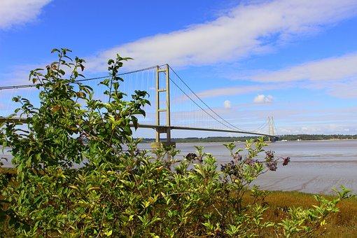 Bridge, Humber, Suspension, River, Hull, Humberside