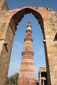 India, Qutab Minar, Old, Ancient, Delhi, Travel