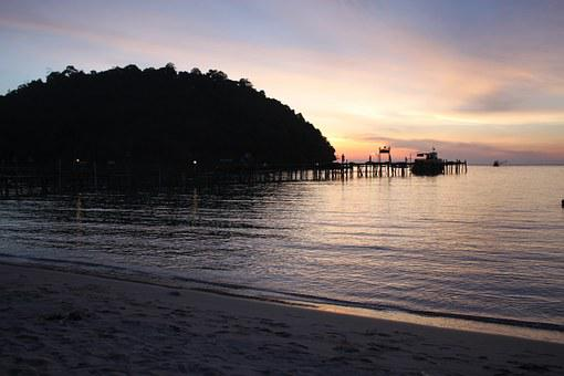 Sunset, The Island Of Koh Kood, Beach, Sea, Water