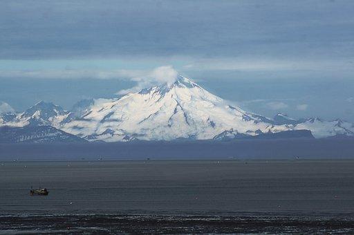 Mt, Redoubt, Cook's Inlet, Volcano, Alaska, Landscape