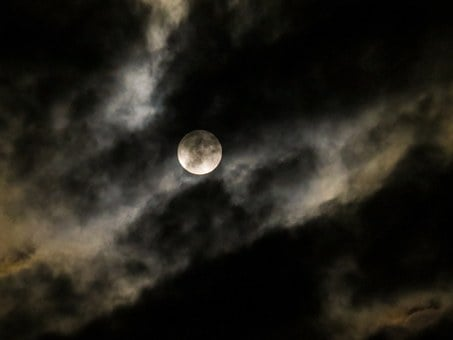Moon, Full Moon, Moonlight, Before Lunar Eclipse