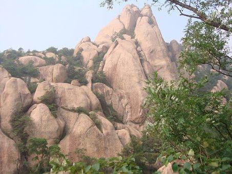 Chaya Mountain, Henan, China, Rocks, Red Rocks