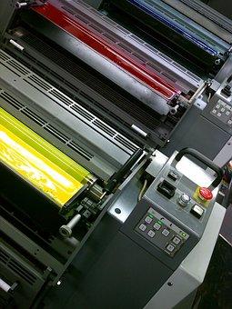 Printing, Colors, Colorful, Offset, Press, Print