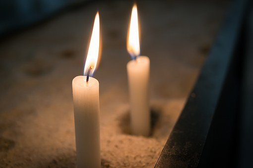 Candle, Flame, Fire, Sand, Candlelight, Light, Heat