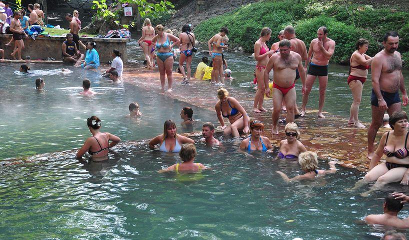 Hot Spring, Radon Source, Bathing, Mass Bathing