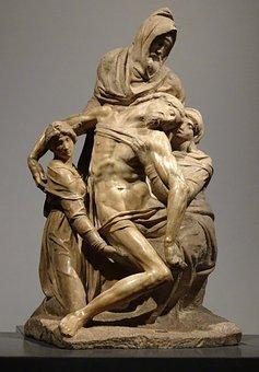 Italian, Marble, Statue, Pieta, Jesus, Sculpture, Italy