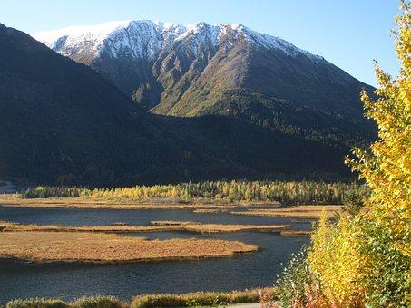 Autumn, Alaska, Mountain, Kenai, Snow, Seward