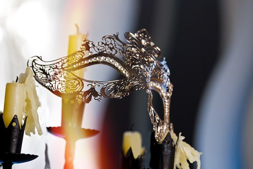 Mask, Candles, Mood, Atmosphere, Light, Flame, Heat