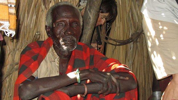 Old Man, Man, Ethiopia, Tribe, Arbore