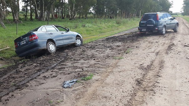 Accident, Auto, Shock, Route, Disaster, Mud, Path