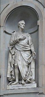 Amerigo Vespucci, Florence, Statue, Niche, Italian