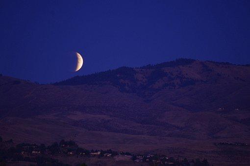 Lunar, Eclipse, Moon, Rising, Night Sky, Supermoon
