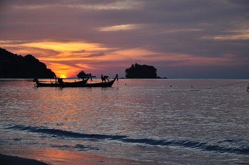 Romance, Thailand, Nai Yang, Sunset, Phuket