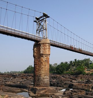 Suspension Bridge, Rope Bridge, Central Pillar