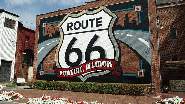 Route 66, Illinois, Old, Decay, Vintage