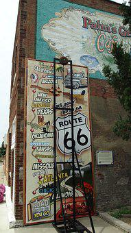 Route 66, Illinois, Old, Decay, Vintage, Wall Painting