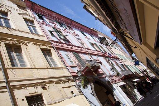 Sanremo, Old Town, Shopping Street, Pedestrian Zone