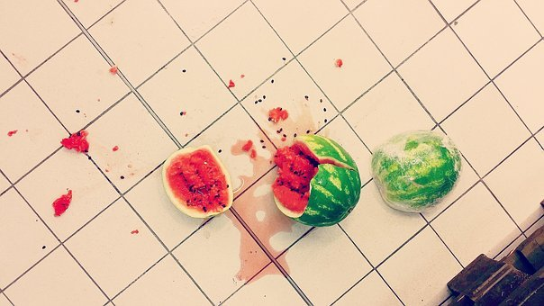 Accident, Floor, Food, Green, Juice, Red, Shopping