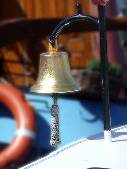 Ship, Ship Bell, Signal, Ornament, Metallic, Maritime