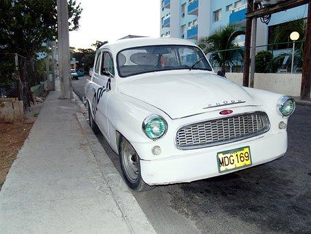 Cuba, Varadero, Auto, Veteran, Skoda, Street