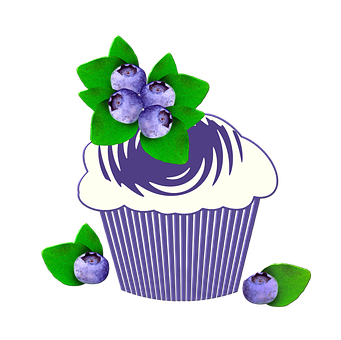 Muffin, Fruit, Berries, The Sweetness, The Cake